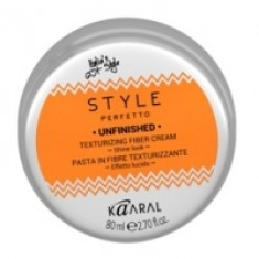 Kaaral Style Perfetto Unfinished Texturizing Fiber Cream - Волокнистая паста для текстурирования волос, 80 мл Kaaral (Италия)