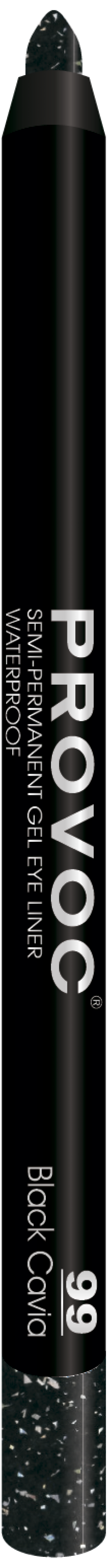 PROVOC Подводка гелевая в карандаше для глаз, 99 черный с голографией / Gel Eye Liner Black Cavia 9 г