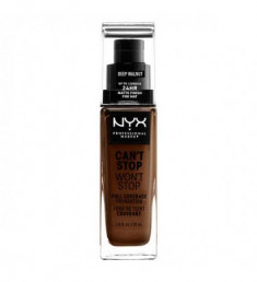 NYX PROFESSIONAL MAKEUP Тональная основа Can't Stop Won't Stop Full Coverage Foundation - Deep Walnut 227