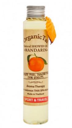 Гель для душа безсульфатный с мандариновым маслом ORGANIC TAI Natural Shower Gel Mandarin 100 мл