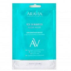 Альгинатная маска с экстрактом мяты и спирулины Aravia professional Ice Seaweed Algin Mask, 30 г