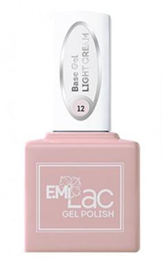 E.MI База камуфлирующая для ногтей, № 12 светло-кремовый / E.MiLac Base Gel 15 мл