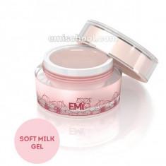 E.mi, soft milk gel, камуфлирующий гель для моделирования, молочного цвета, 15 г