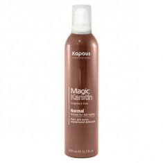 Мусс с кератином нормальной фиксации для укладки волос, 400 мл (Kapous Professional)
