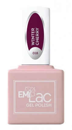 E.MI 018 гель-лак для ногтей, Зимняя вишня / E.MiLac 6 мл