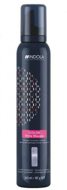 INDOLA Мусс оттеночный для укладки волос, серебряная лаванда / Color Style Mousse 200 мл