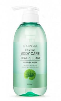 Гель для душа с центеллой и чайным деревом WELCOS AROUND ME Relaxing Body Care Cicatreecare Body Wash 500мл
